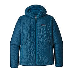 Patagonia Nano Puff Hoodie Jacket - Big Sur Blue