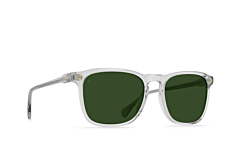 Raen Wiley Sunglasses - Fog Crystal/Bottle Green - Side Angle