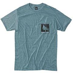 HippyTree Woodgrain T-Shirt - Heather Teal - front