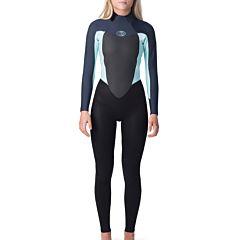 Rip Curl Women's Omega 3/2 Back Zip Wetsuit  - Slate