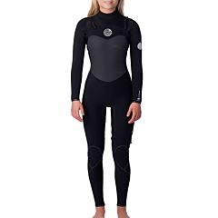 Rip Curl Women's Flashbomb 4/3 Chest Zip Wetsuit - Black