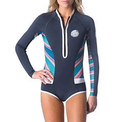 Rip Curl Women's G-Bomb 1mm Bikini Cut Long Sleeve Spring Suit - Slate