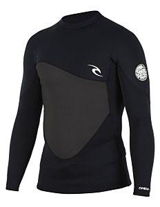 Rip Curl Omega 1.5mm Long Sleeve Wetsuit Jacket - Black