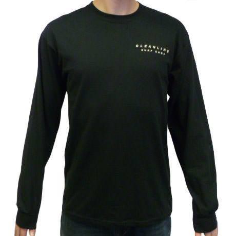 Cleanline Mural L/S T-Shirt - Black