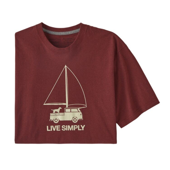 Patagonia Live Simply Wind Powered T-Shirt - Oxide Red