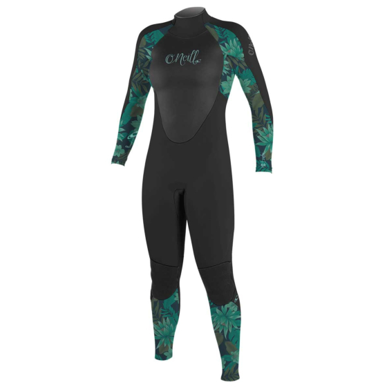 O'Neill Youth Girls Epic 4/3 Wetsuit - Black/Green Faro/Black