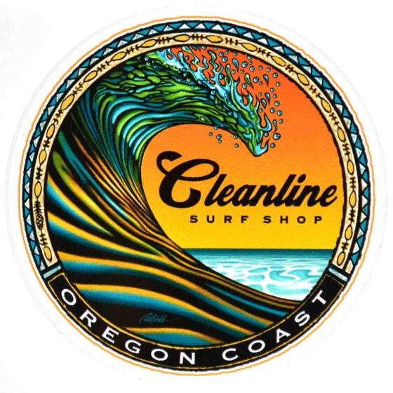 Cleanline Surf Clean Wave Sticker