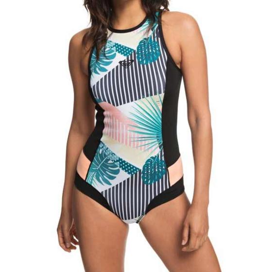 Roxy Women's Pop Surf 1mm Bikini Cut Short John Spring Wetsuit - Black