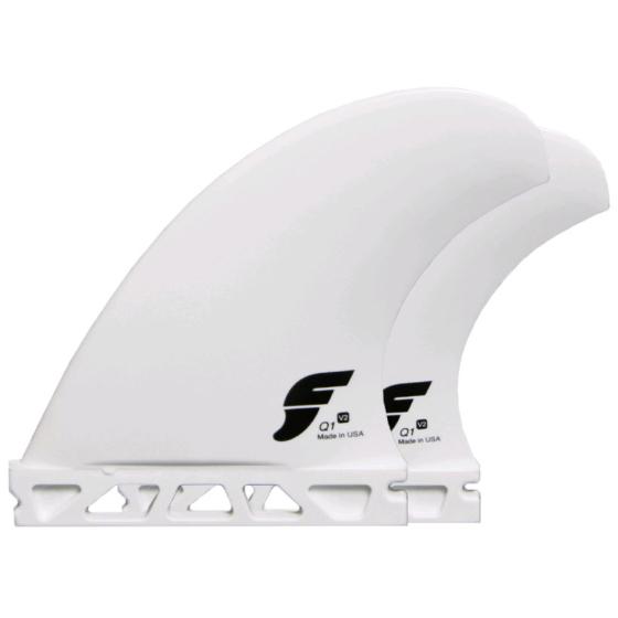 Futures Fins - Q1 V2 Quad Thermotech - White