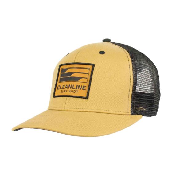 Cleanline Lines Mesh Hat - Latte/Black