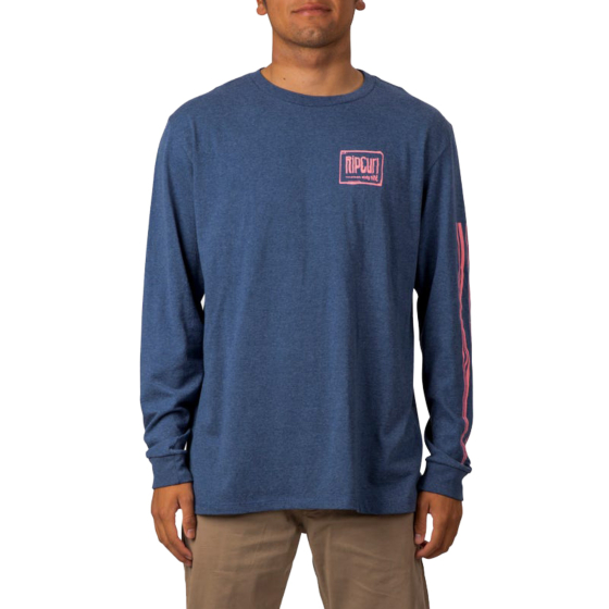 Rip Curl Native Glitch Long Sleeve T-Shirt - Navy - front