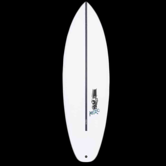 JS Nitro HYFI Squash Tail Surfboard - Deck