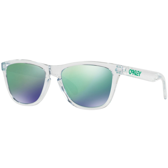 Oakley Frogskins Crystal Sunglasses - Polished Clear/Jade Iridium