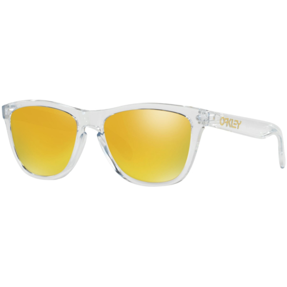 Oakley Frogskins Crystal Sunglasses - Polished Clear/24K Iridium