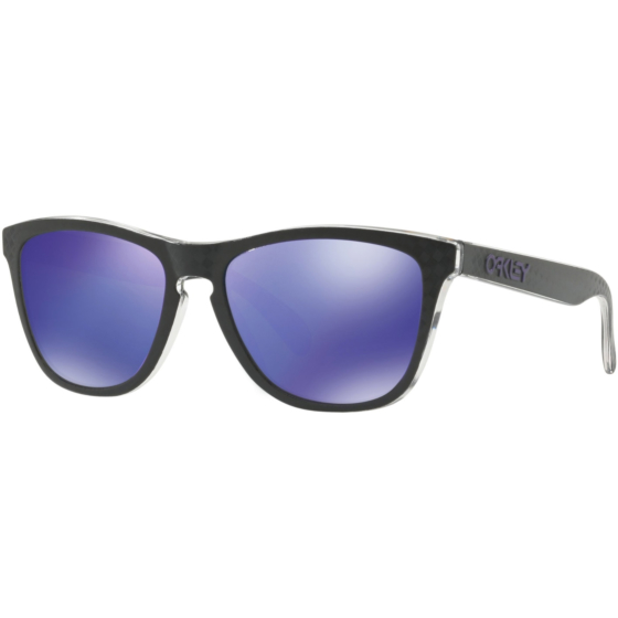 Oakley Frogskins Checkbox Sunglasses - Black/Violet Iridium