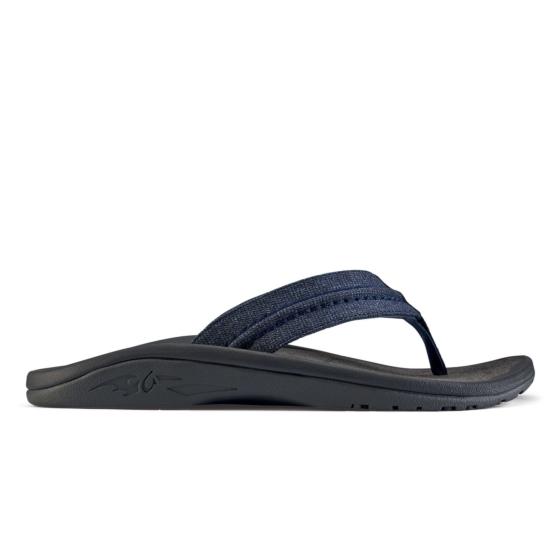 Olukai Hokua Mesh Sandals - Night/Charcoal