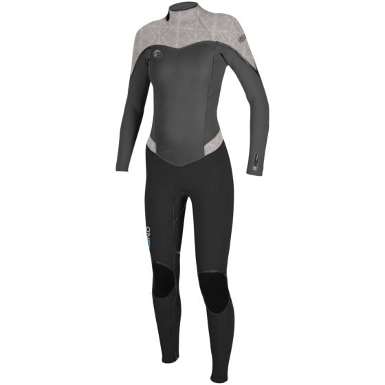 O'Neill Women's Flair 3/2 Wetsuit - Black/Graphite/Vida