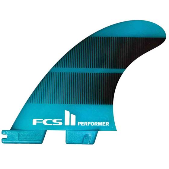 FCS II Fins Performer Neo Glass Medium Quad Fin Set - Teal Gradient