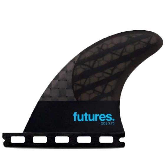 Futures Fins QD2 3.75 Blackstix Quad Rears Fin Set