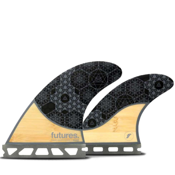 Futures Fins Rasta Honeycomb Quad Fin Set