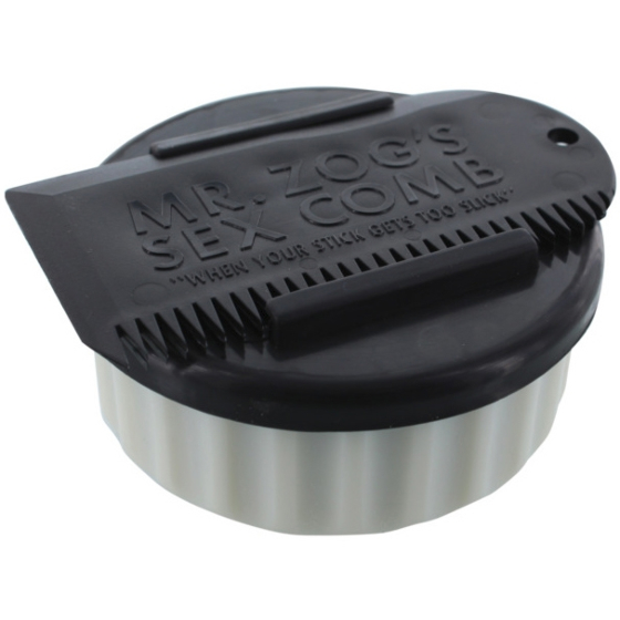 Sex Wax Container and Comb - White/Black