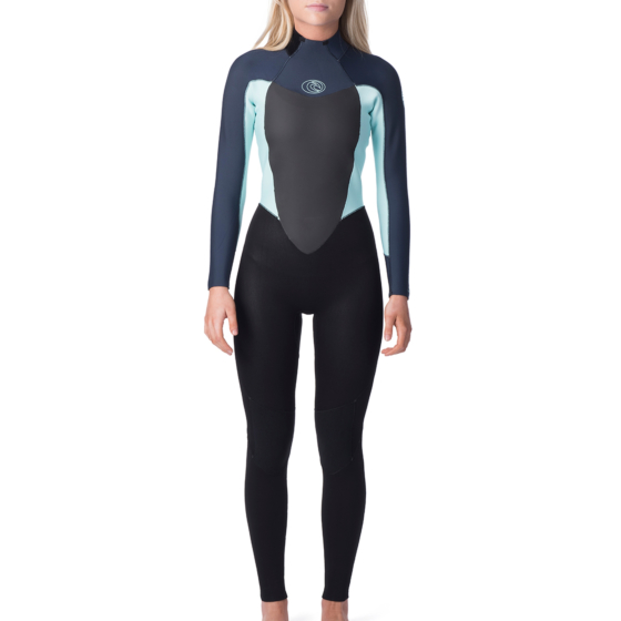 Rip Curl Women's Omega 4/3 Back Zip Wetsuit - Slate