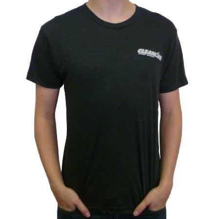 Cleanline Corp Logo/Big Rock T-Shirt - Heather Black