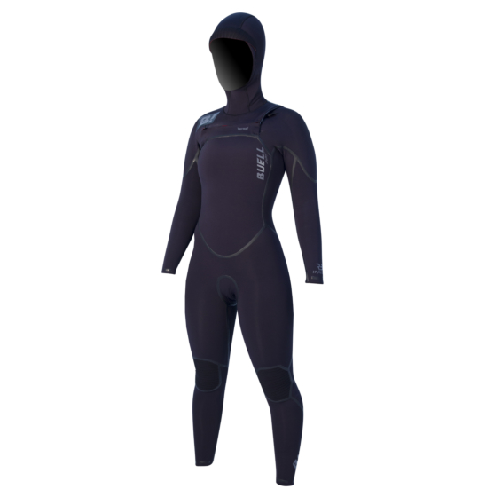 Buell Women's RB2 5/4 Hooded Chest Zip Wetsuit - Front
