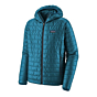 Patagonia Nano Puff Hoody Jacket - Balkan Blue