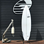 Channel Island Black and White 6'8 x 20 5/8 x 2 1/2 Used Surfboard - Bottom