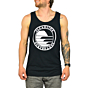 Cleanline Silhouette Circle Tank - Black