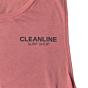 Cleanline Women's Lines Muscle Tank - Mauve Front