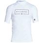 Billabong Union Performance Fit Short Sleeve Rash Guard - White