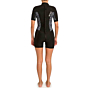 Rip Curl Women's Dawn Patrol 2mm Short Sleeve Back Zip Spring Wetsuit - Black/White