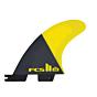 FCS II Al Merrick PC Large Tri-Quad Fin Set - Yellow - Rear