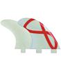 FCS Fins - M3 GF Quad G1000 - Glass/Red