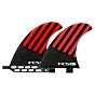 FCS Fins - HI1 PC - Red/Black Hex