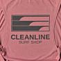 Cleanline Women's Lines Muscle Tank - Mauve Back