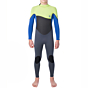 Rip Curl Youth Omega 4/3 Back Zip Wetsuit - lime front