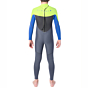Rip Curl Youth Omega 4/3 Back Zip Wetsuit - lime back