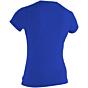 O'Neill Women's Basic Skins Rash Tee - Tahitian Blue