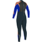 O'Neill Youth Girls Epic 4/3 Wetsuit - Navy/Tahitian Blue/Grapefruit