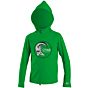 O'Neill Wetsuits Toddler Skins Hooded Long Sleeve Rash Tee - Clean Green
