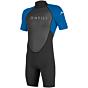 O'Neill Reactor II 2mm Short Sleeve Back Zip Spring Wetsuit - Black/Ocean