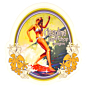 Cleanline Surf Surfer Girl Sticker