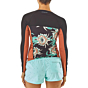 Patagonia Women's Micro Swell Long Sleeve Rash Guard - Cereus Flower/Black