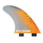 FCS Fins PC7 Quad Fin Set - Orange Smoke
