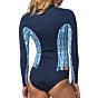 Rip Curl Women's G-Bomb 1mm Bikini Cut Long Sleeve Spring Suit - Blue