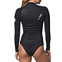 Rip Curl Women's Dawn Patrol 2mm Front Zip Long Sleeve Jacket - Black