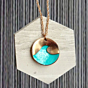 S1W Handmade Textured Wave Necklace - Copper